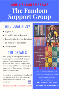 Fandom Support Group @ Ridgeland Public Library | Ridgeland | Mississippi | United States